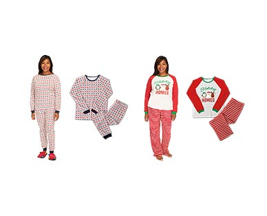 Merry Moments Men's or Ladies' Holiday Pajama Set View 5