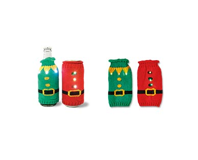 Merry Moments 2-Pack Ugly Sweater Beer/Slim Can Covers View 2
