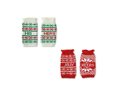 Merry Moments 2-Pack Ugly Sweater Beer/Slim Can Covers View 4
