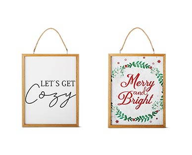 Merry Moments Holiday Reversible Wall Sign View 3