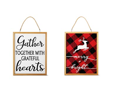 Merry Moments Holiday Reversible Wall Sign View 4