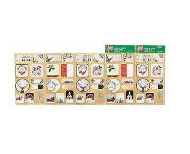 Merry Moments 50 Peel-and-Stick Gift Tags View 2