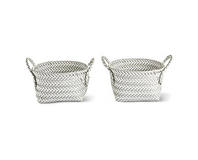 Huntington Home Zig Zag Storage Basket View 1