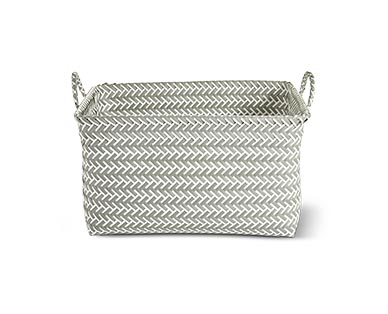 Huntington Home Zig Zag Storage Basket View 3