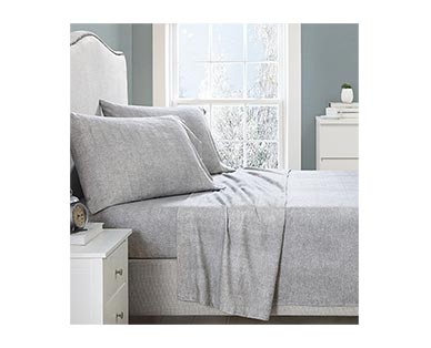 Huntington Home Queen or King Solid Flannel Sheets View 4