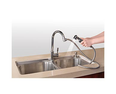 Easy Home Detachable Sink Faucet Sprayer View 4