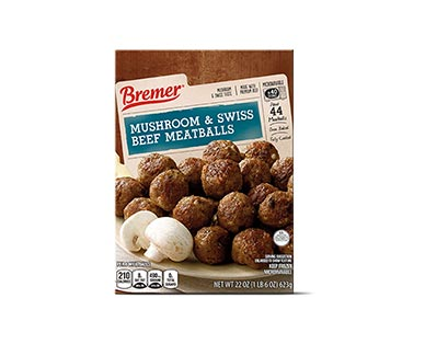 Bremer Mushroom & Swiss Beef Meatballs