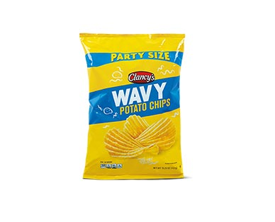 Clancy's Party Size Wavy Potato Chips View 1