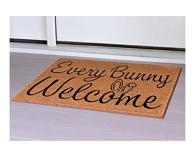 Huntington Home Spring Coir Mat Every Bunny Welcome In Use