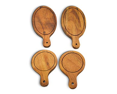 Crofton Mini Wooden Serving Set Round/Oval View 2