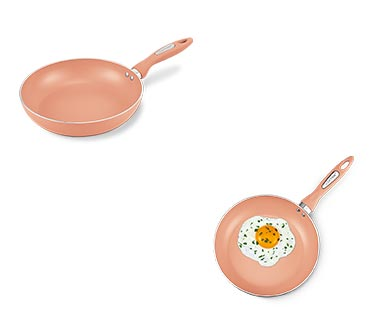 Crofton Spring Fry Pan Rose Gold In Use