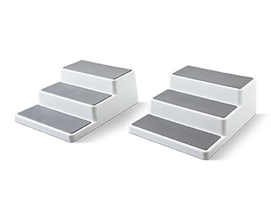 2-Pack Slim 2-Tier Shelves