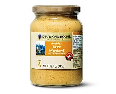 Deutsche Küche European Mustard Austrian Beer