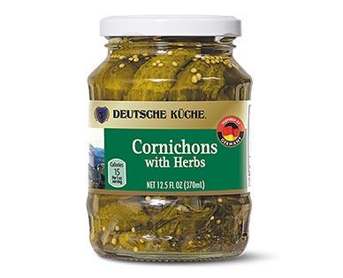 Deutsche Küche Herb or Chili Cornichons