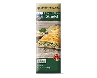 Deutsche Küche Spinach & Ricotta Savory Strudel View 1