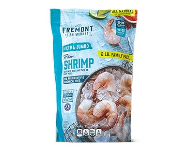 Fremont Fish Market Extra Jumbo EZ Peel Raw Shrimp