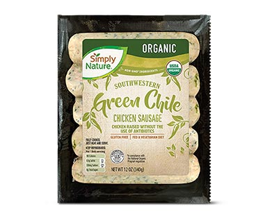 Simply Nature Organic Chicken Sausage Green Chile