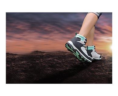 Adventuridge Men's or Ladies' Hiking Boots Gray/Aqua In Use