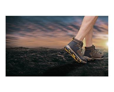 Adventuridge Men's or Ladies' Hiking Boots Brown/Black In Use