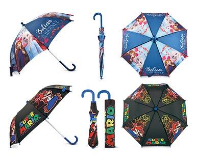 Children's Character Umbrella Frozen 2 and Super Mario