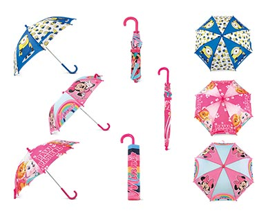 Children's Character Umbrella Minions, Minnie Mouse and Paw Patrol