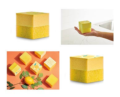 Easy Home Square Scrubber Yellow