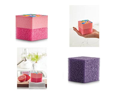 Easy Home Square Scrubber Pink and Purple