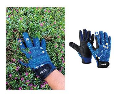 Gardenline Touchscreen Gardening Gloves Blue In Use