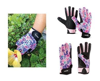 Gardenline Touchscreen Gardening Gloves Floral