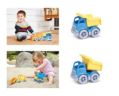 Green Toys Eco-Friendly Toddler Trucks Blue Dumper In Use