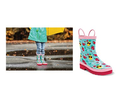 Lily & Dan Girls' Rain Boots Fruit In Use