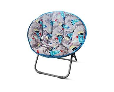 SOHL Furniture Kids' Saucer Chair Rocket Ships