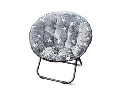 SOHL Furniture Kids' Saucer Chair Glow-in-the-Dark Stars