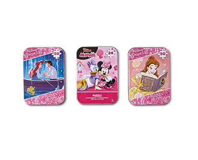 Spin Master 3-Pack Tin Puzzles Disney Girls View 1