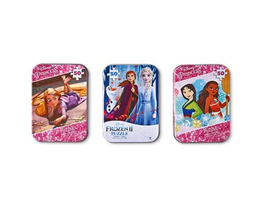 Spin Master 3-Pack Tin Puzzles Disney Girls View 2