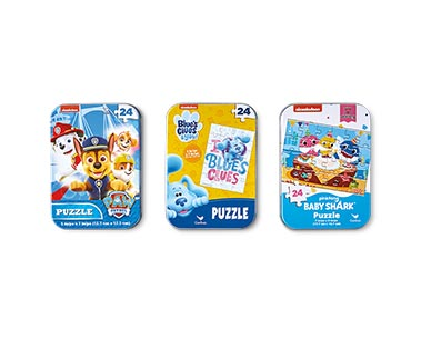 Spin Master 3-Pack Tin Puzzles Nickelodeon