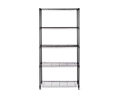 WORKZONE 5-Tier Black Shelves