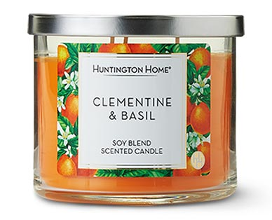 Huntington Home 3-Wick Candle Clementine & Basil