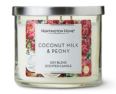 Huntington Home 3-Wick Candle Coconut Milk & Peony