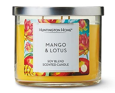 Huntington Home 3-Wick Candle Mango & Lotus