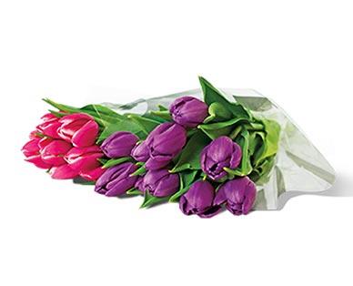 10-Stem Tulip Bouquet Assorted Colors View 1