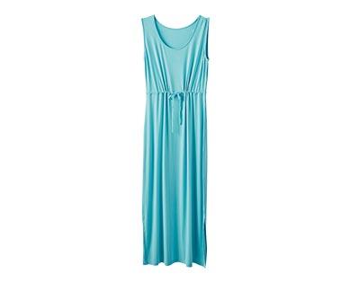 Serra Ladies' Maxi Dress Blue Tank