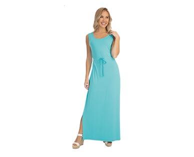 Serra Ladies' Maxi Dress Blue Tank In Use