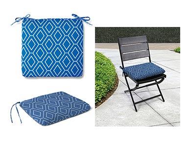 Belavi Seat Pad Delft Blue In Use