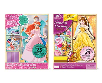 Bendon 25-Piece Magnetic Dress-Up Doll Ariel and Belle