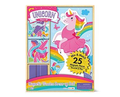 Bendon 25-Piece Magnetic Dress-Up Doll Unicorn