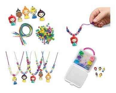 Disney or Universal Necklace Activity Set Disney Princess In Use