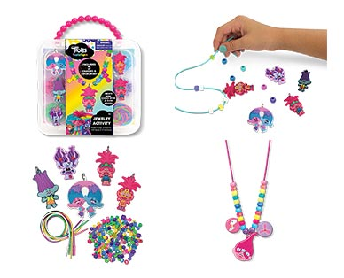 Disney or Universal Necklace Activity Set Trolls In Use