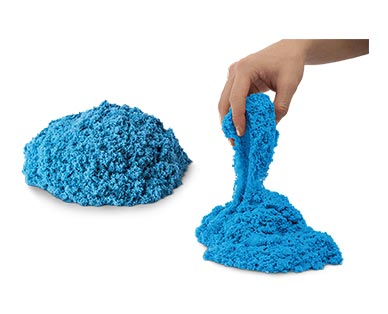 Kinetic Sand 2-Lb. Bag Blue In Use
