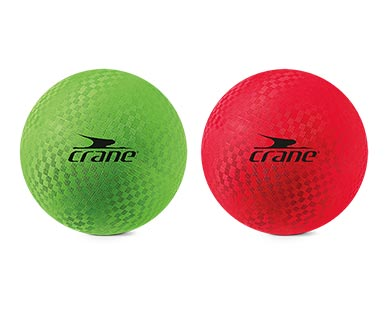 Crane Playground Ball Green and Red